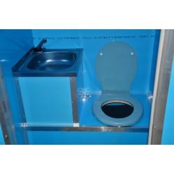 Toaleta ecologica vidanjabila Ibra cu lavoar si sistem de pompare electric