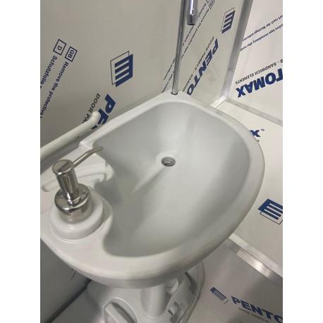 Toaleta ecologica vidanjabila Ibra cu lavoar si sistem de pompare mecanic