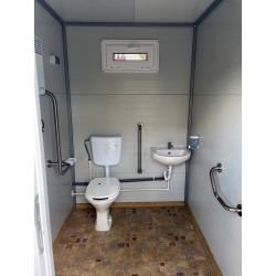 Toaleta ecologica racordabila dubla pentru persoane cu dizabilitati